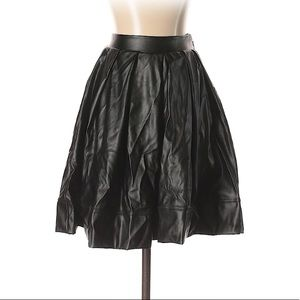 Bebe Faux Leather Midi Skirt